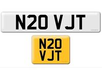 N20 VJT private cherished personalised personal registration plate number