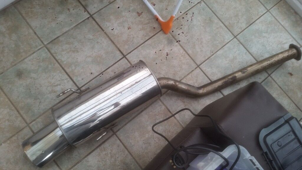 BMW e36 exhaust 320 323 325i highgrade stainless sports exhaust back box |  in Dunfermline, Fife | Gumtree