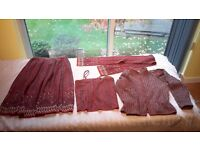 BILL GIBB VINTAGE MATCHING FASHION OUTFIT - CAMISOL TOP - JACKET - STOLE - SKIRT - COLLECTION ONLY