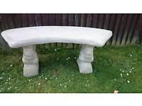 A decorative garden bench