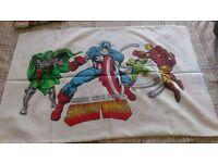 Rare 80's marvel pillow case
