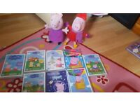 Peppa pig talking teddy and dvds