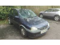 1999 Vauxhall Corsa 1.2 Spares Or Repairs Starts And Drives