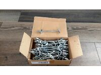 Box of 50 worktop bolts that are slightly tarnished but still 100% for use