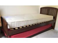 Marks & Spencer Double Hideaway Bed - Solid Oak