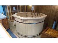 Wood Fired Hot Tub, brand new, ex-display.