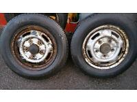 Ford Transit 2 x steel + 2 x tyres 185 75 16 C