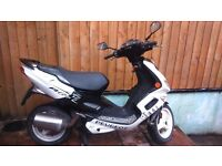 PEUGEOT SPEEDFIGHT 50 with a 100cc engine fitted