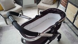 I-candy travel system pram and pushchair with adaptors for car seat also rain civers for both