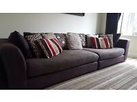 4 seater DFS sofa and footstool
