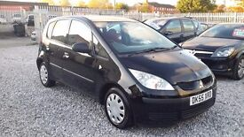 Mitsubishi COLT, 1124cc PETROL, HATCHBACK, MANUAL, BLACK, 2005()55, MOT 20 July 2017