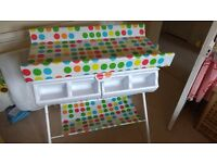 Kiddicare changing table (including bath and storage)