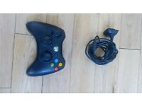 Genuine Xbox 360 Slim wireless controller with cable