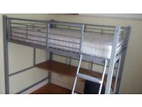 CABIN BED / BUNK BED & DESK. Jay-Be. High Sleeper, Loft Bed.