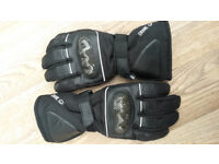 Motorbike leather thermal gloves/ Carbon Fibre Size L