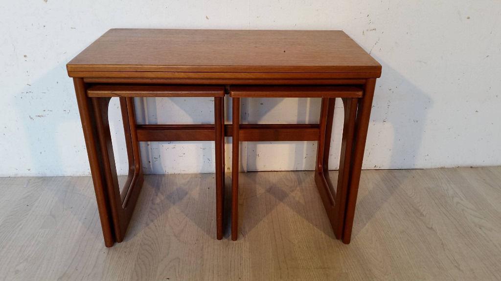 McIntoch Teak Triple Nest of Expanding Table