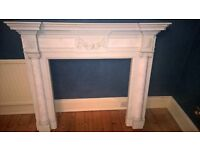 Elgin & Hall Fireplace , marble hearth & Marble slip
