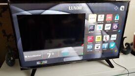 LUXOR 43 TV 4K SUPER Smart HD TV,built in Wifi,Freeview HD, NETFLIX. 2017 Model...RRP £389