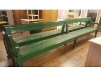 Original 12 ft Old Railway Bench From Ossett Station West Yorkshire
