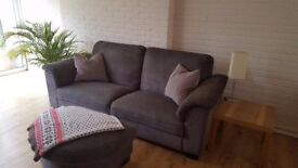 TIDAFORS Ikea sofa - Brown + footstool