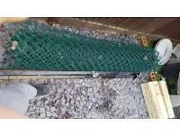 6 feet Chain link fence