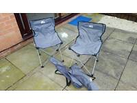 2 camping chairs like new