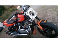 Harley Davidson XR1200 2008, orange,one off reg number,