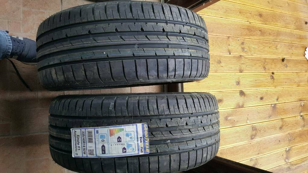 Goodyear 18 inch tyres.