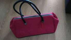 Pink weekender bag
