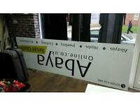 Shop front signage board bill board dibond aluminium metal board MUST GO 10'×3'