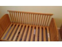 Pine cot / cot bed and wardrobe