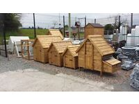 THESE ARE VERY WELL MADE WOODEN DOG KENNELS AND HEN ARKS BIRD TABLES RABBIT HUTCHES CHICKEN HOUSES