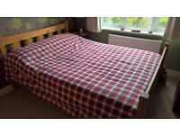 Wooden Double Bed with Sealy Luxury Backcare Matress