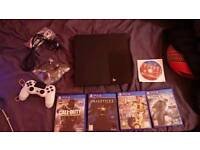 Sony playstation 4 classic black, 1 controller +5 games