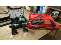 Hilti TE1000 avr breaker + Metabo combi drill/impact driver twin pack