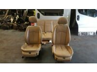 2007 MERCEDES E CLASS E280 CDI CREAM BEIGE LEATHER SEATS FRONT LEFT RIGHT+BACK GUJ £200
