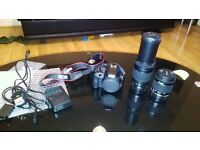 new canon eos 100d with 18-55 & 75-300mm lens, with box and all accessories