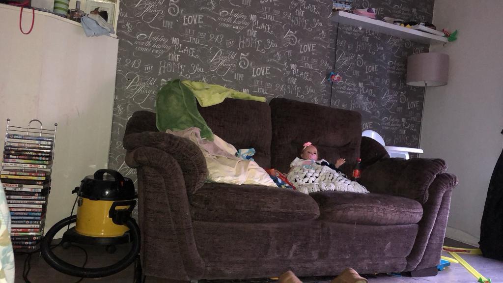 (FREE)2x2 brown sofas