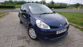 2007 CLIO NEW SHAPE 1.5DCI TURBO DIESEL SUPER LOW MILEAGE 51K CHEAP TAX ONLY 30 POUNDS A YEAR 70MPG