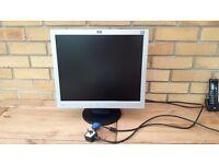 """HP 19"""" LCD computer monitor."""