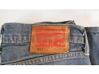 Levi's 511 Denim Grey Distressed Slim Fit Stretch Unisex Jeans | W30 X L30 | RRP £80 | Used | Leeds
