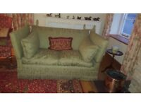 Gorgeous Almost New Condition Green Sofa