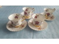 Vintage Royal Stratford and imperial Bone china tea set