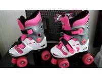NoFear Adjustable Quad Roller Boots Skates C10-C13