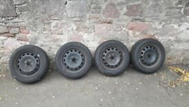 """16"""" Winter wheels with new tyres for Skoda Octavia (also Audi /VW) 205/55 R16"""