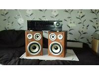 Stereo Amplifier +3Way Speakers