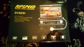 """Ripspeed DVD car stereo with 7"""" Touch screen control system"""