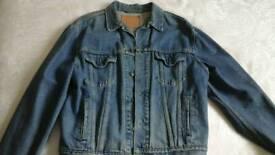 Gents denim levi jacket original large