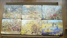 6 x Vintage Jason Place Mats - Australian Birds and Flowers collection