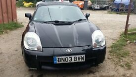 toyota mr2 roadster black
